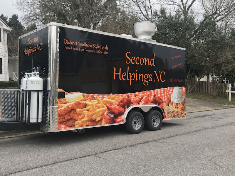 Second Helpings NC Custom Food Trailer