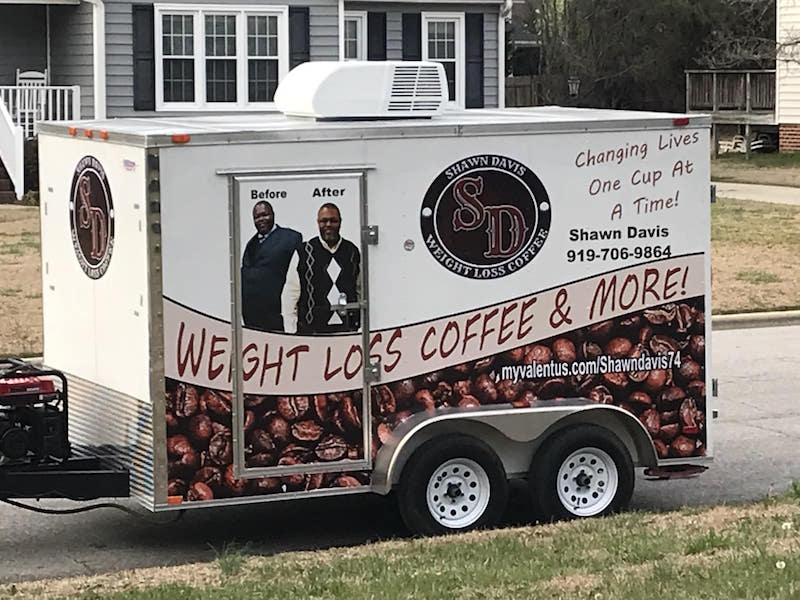 shawn davis weight loss coffee custom trailer